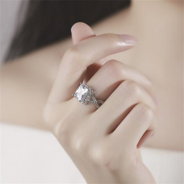 Big Sale Beautiful Sterling Silver Jewelry Ring for Women Zircon Diamant3